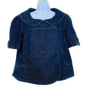 Anthropologie Freedom of Choice Jean Jacket M Blue